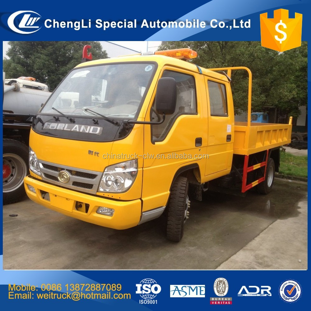 Competitive advantage forland 4x2 or 4x4 4wd 3 ton dump truck for hot sale