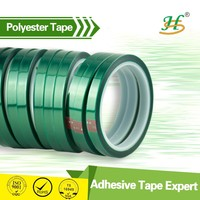 Heat resistant insulation green polyester adhesive high temperature plastic film tape