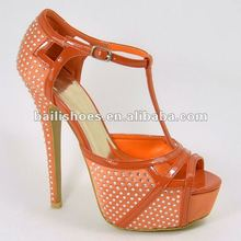 2013 peep-toe high heel flatform fashion lady crystal dress shoes