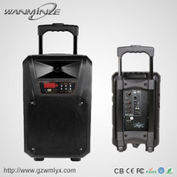2015 Promotional Bluetooth Speaker Good Sound System Audio Equipment Rechargeable Trolley Portable Speaker With Handle