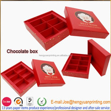 Luxury paper chocolate packaging box chocolate boxes box inserts