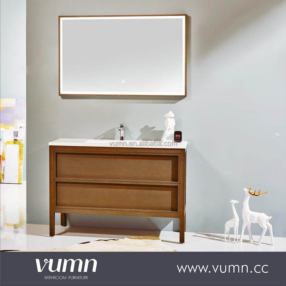 Curved Bathroom Vanity Canada Oak Wood Cabinet In Bathroom - Buy ...