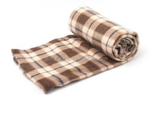"AOFU New Soft Polar Fleece Throw Blanket 30"" x 40"" Classic fur Plaid Pattern 5 colors"