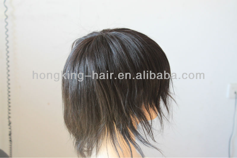 6 inch hair natural remy human hair men's toupee
