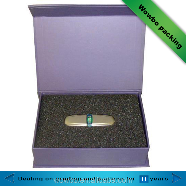 Custom luxury purple deluxe lighter packaging box with magnetic closure design