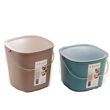 Guaranteed quality unique rope plastic Storage bucket with lid with handle (small)