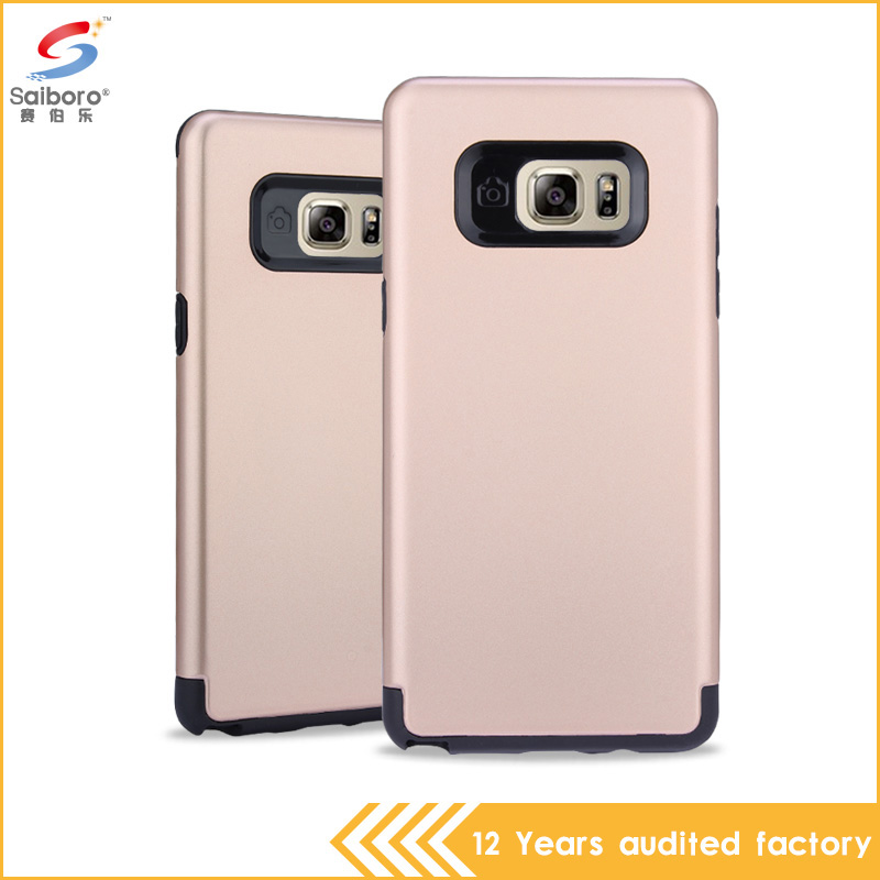 Mobile phone <strong>accessories</strong> factory in china silver tpu plastic waterproof cover case for samsung galaxy note 7