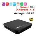 M8S PRO Smart Android 7.1 TV Box Amlogic S912 Octa-core 2GB DDR4 16GB 2.4G&5G WiFi BT 4.1 Airplay Miracast 4K Media player