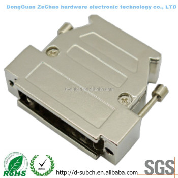 three-way d-sub shell 25Pin Metal with Clamp