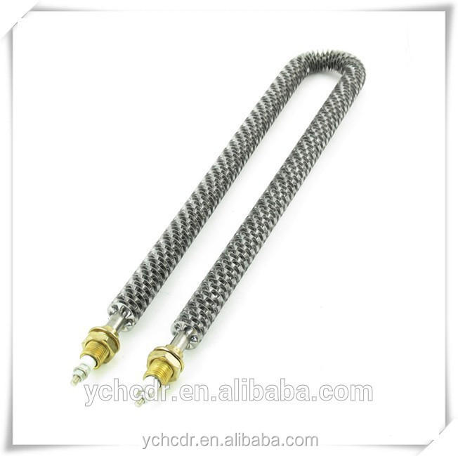 600v 6000w electrical tubular resistance u shaped finned heating element for furnace and oven
