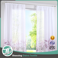 Custom made living room polyester printing voile curtain for home decor