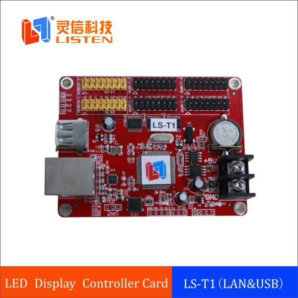 The Leading led display single/Dual/Tri color control card p3.75.4.5.6.7.8.10mmm......25mm LS-T1