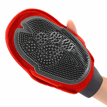 <strong>Pet</strong> grooming tool dog massage bath douple glove <strong>pet</strong> clean up glove tool