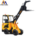 Multifunction wood chipper loader 1 ton lifting capacity hydraulic articulated mini loader for sale