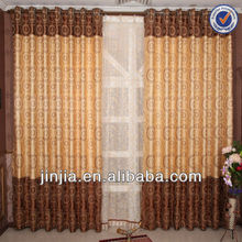 Heavy Luxury Jacquard curtain blinds Pencil Pleat Ready Made Lined Curtains