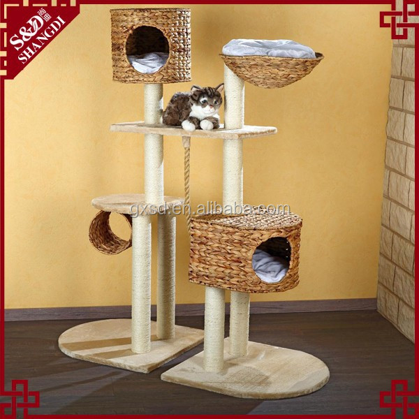 China manufacturer handmade comfortable pet toys cat tree house