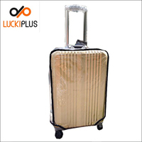 Luckiplus PVC Transparent Luggage Cover Wholesale Waterproof High Quality Suitcase Cover
