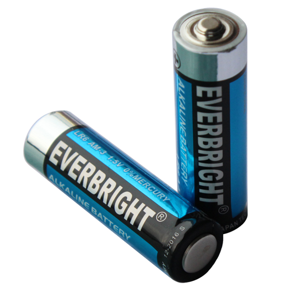 Surplus Branded Good EVERBRIGHT Alkaline AA LR6 AM3 Battery From China