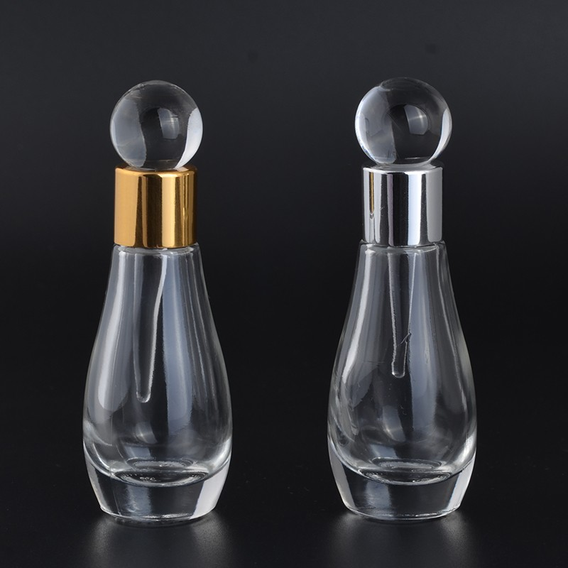 Promotional gifts square shaped mini glass bottle with aluminum cap and glass stick for cosmetic perfume packaging
