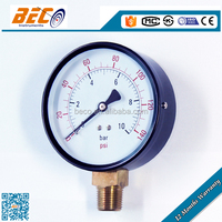 100mm oil pressure gauge bourdon tube pressure meter