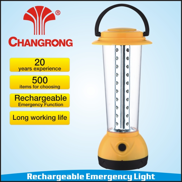 portable rechargeable emergency led light AC DC CE ROHS bajaj