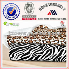 2015 New Hot Thick Warm Cheap Solid White Sherpa Animal Printed Micro Cozy Reversible 100% Polyester 2 Ply Mink Blanket King