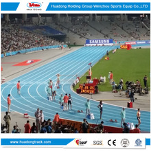 IAAF 400m standard track field material prefabricated rubber running track