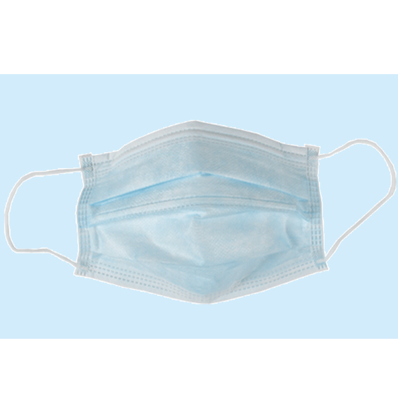 Surgical nonwoven face mask with tie on