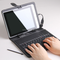 universal keyboard tablet case for 7 inch 8 inch, bluetooth keyboard flip Case for 7 inch Tablet Cover