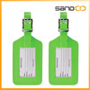 wholesale 2-pack Neon cheap bulk leather luggage tag
