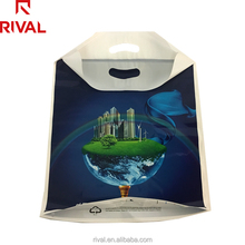 Fashionable boutique die cut printed small soft plastic HDPE cheap shopping packaging gift bag