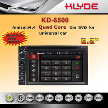 High Quality Android 4.4.4 system with navigation Bluetooth Wifi Radio for universal Car GPS Head Unit