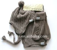 100% acrylic knitted scarf, hat & glove sets