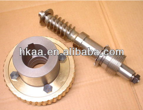 brass worm gear, Worm drive gear shaft, custom motorcycle gear and shaft manufacturer
