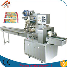 China stick candy lollipop pouch automatic flow packing machine