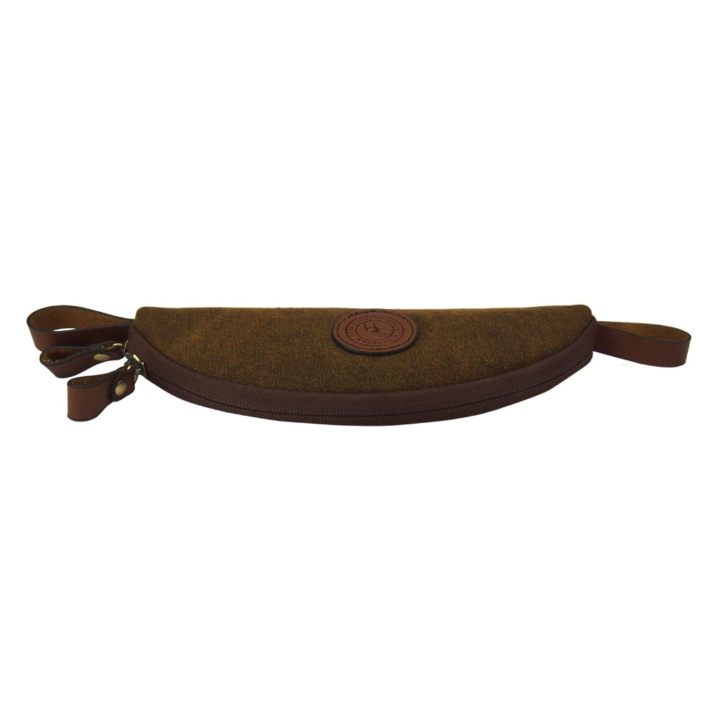 Tourbon large size canvas and genuine leather deluxe fly for Fly fishing equipment