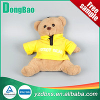 2000ml standard hot water bag with bear with scarf cover in white color
