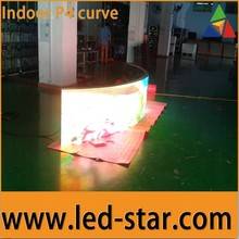 HOT STAR Curve Led FULL COLOR INDOOR P4 LED DISPLAY SCREEN