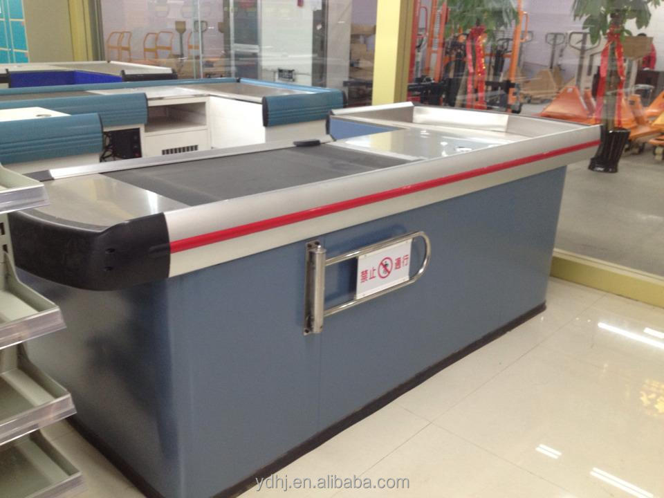YUAN DA Factory supermarket cashier desk with belt