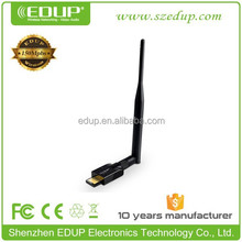 EDUP 150Mbps android usb wireless network adapter wifi usb dongle with external antenna EP-MS150N