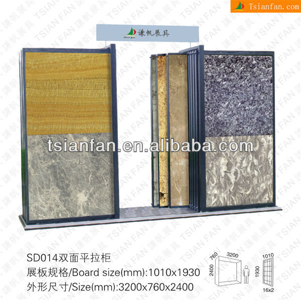 SD014 crystal white marble slab stand