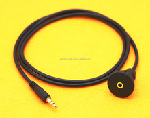 Car Dash Board 3.5mm AUX Jack Input Socket Mount Extension Panel Cable Cover