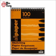 Acid Free 9''x12'' 100 pages Top Spiral Sketching Pad