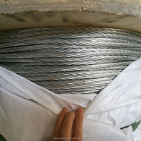 Galvanized Zinc Coated Steel Wire Cable/guy wire/ stranded wire