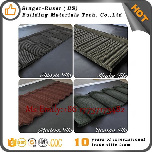 Singer Building Material Chinese Roof Tiles Manufacturer Sand Coated Metal Roofing Tiles For Importer/Reseller/Warehouse