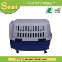 Dog transport bag on wheels pet carrier