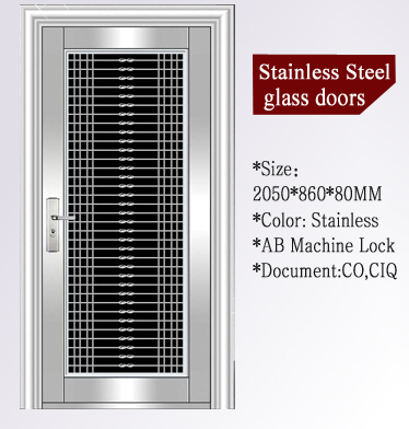 QD-SS042 Entrance Anti- theft Villa Main Stainless Steel Door Price