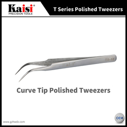 Hot Sale Kaisi TS-15 phone repair tool Harder Precision Curved tweezers Stainless Steel Tweezers
