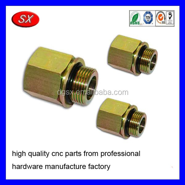 Customized brass nut bolt ,cnc turning zinc plated steel female male pipe adapter