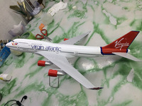 use condition and airbus type lease/Virgin Atlantic B747-400 47cm plane model